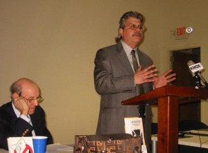 Dr. Michael Pakko (at podium), Federal Reserve St. Louis economist & Libertarian Party supporter