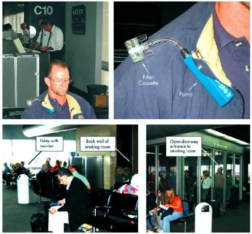 Lambert Airport nicotine monitor test, conducted September 26, 2002 by James Foley, Environmental Solutions