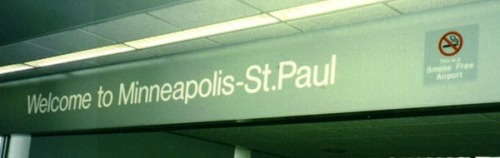 "Minneapolis-St. Paul International Airport sporting new ""No Smoking"" sign"