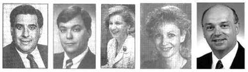 Council members Shear, Odenwald, Rothman-Serot, Kersting, and Quinn (Photos taken from press clippings, except Quinn)